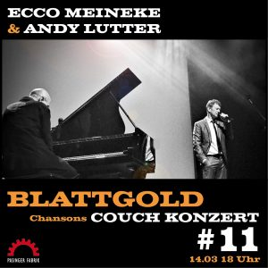 Couch-Konzerte: ECCO MEINEKE & ANDY LUTTER @ Konzertstream
