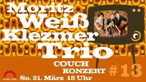 Couch-Konzerte: MORITZ WEISS KLEZMER TRIO @ Konzertstream